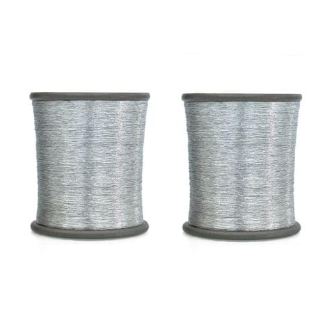 Zari Thread Silver 500 Mtr