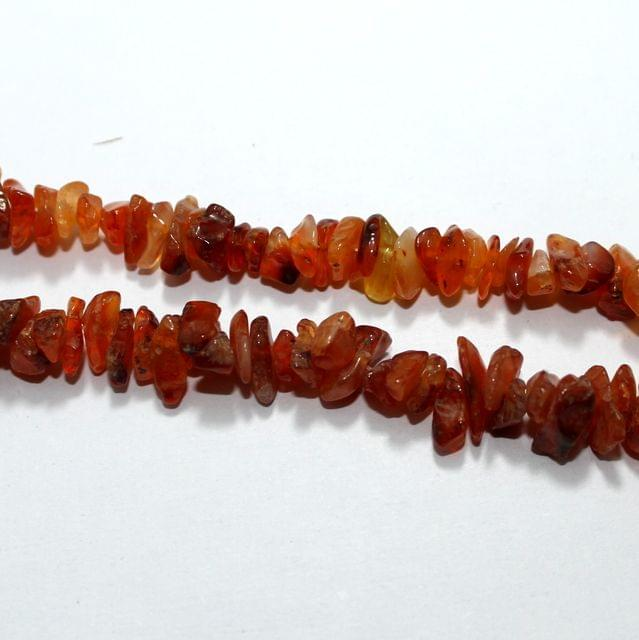 Orange Stone Chips 2 Strings, 5-8mm, Approx 310+ Pcs