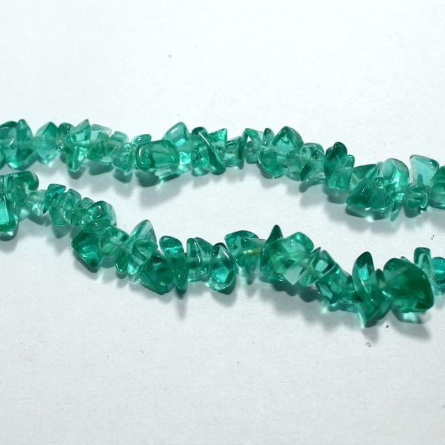 Turquoise Glass Chips 2 Strings, 5-8mm, Approx 280+ Pcs