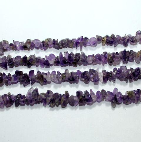 Purple Stone Chips 2 Strings, 5-8mm, Approx 370+ Pcs
