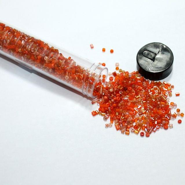 3500 Pcs Multi Orange Seed Beads , Size 11/0