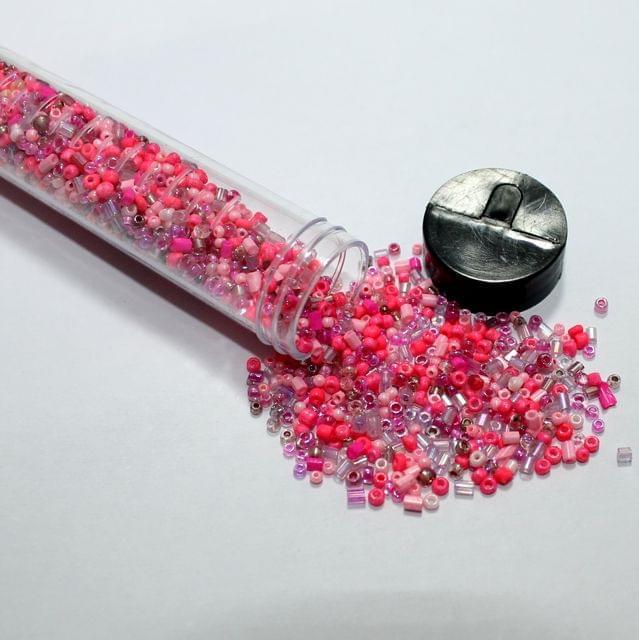 3500 Pcs Multi Pink Seed Beads , Size 11/0