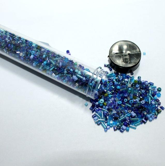 3500 Pcs Multi Blue Seed Beads , Size 11/0
