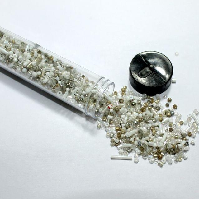 3500 Pcs Multi White Seed Beads , Size 11/0