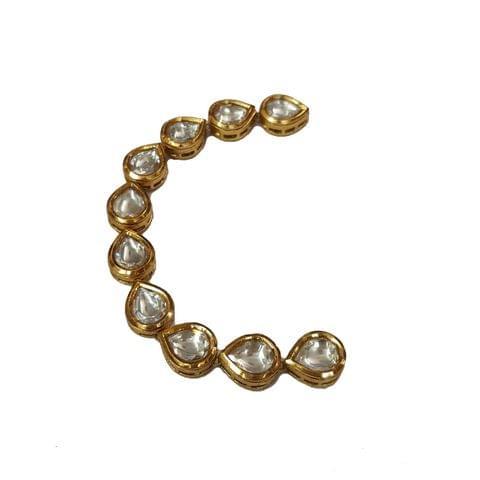 10pcs, 10x13mm Kundan Drop Chain