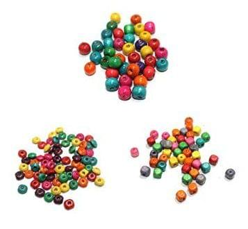 900 Pcs Wooden Multicolor Beads Assorted