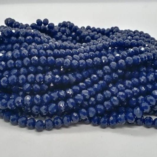 Blue 5 Strings Crystal Beads 6mm Rondelle