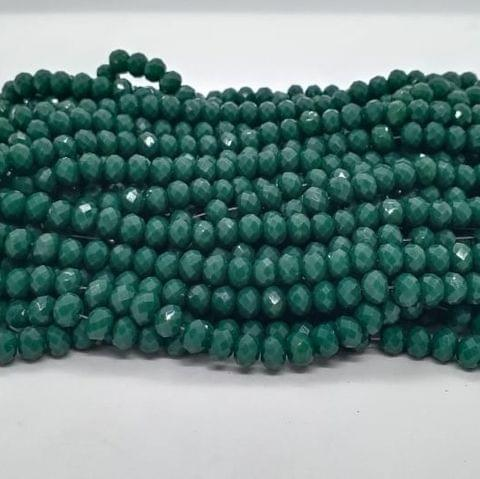 Green 5 Strings Crystal Beads 6mm Rondelle