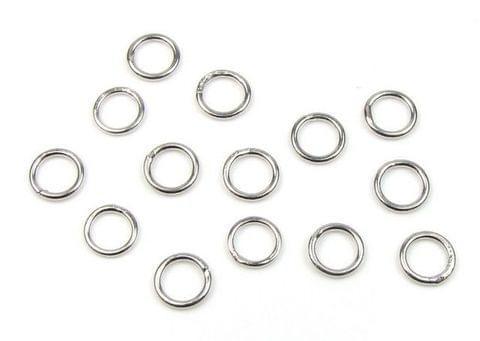 800 Pcs Brass Silver Closed Jump Rings 8 mm