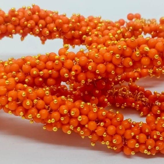 Orange Glass Loreal Beads 3mm