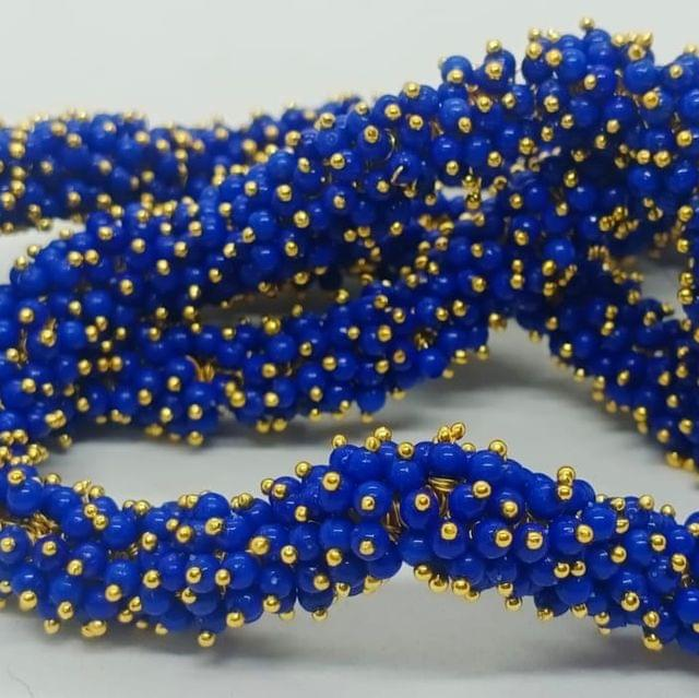 Blue Glass Loreal Beads 3mm