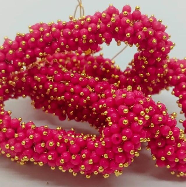 Pink Glass Loreal Beads 3mm