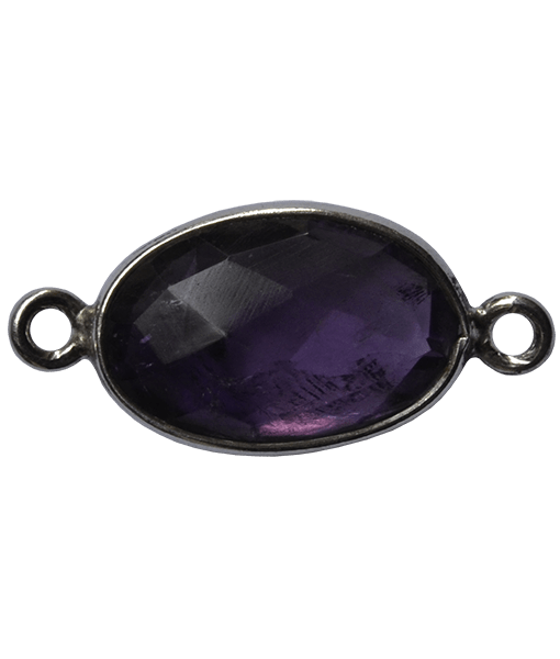 92.5 Sterling Silver Amethyst Connector