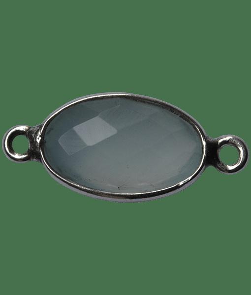 92.5 Sterling Silver Aqua Connector