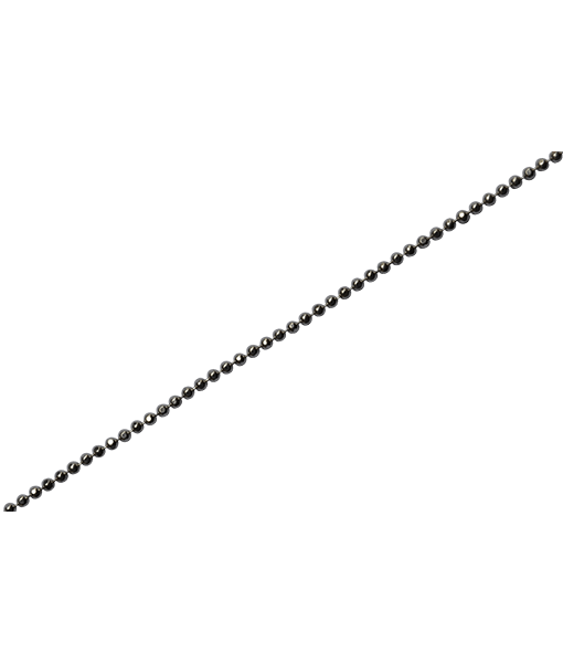92.5 Sterling Silver 1.2mm Faceted Ball Chain_100 cms