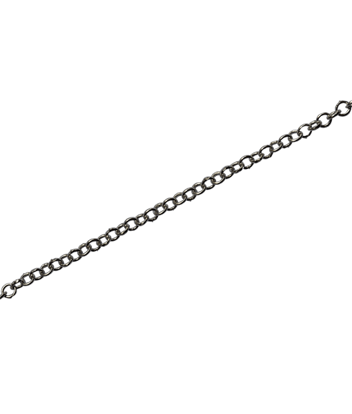 92.5 Sterling Silver Round Link Chain - 100 cms