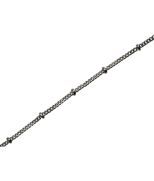 92.5 Sterling Silver Disco Chain - 100 cms
