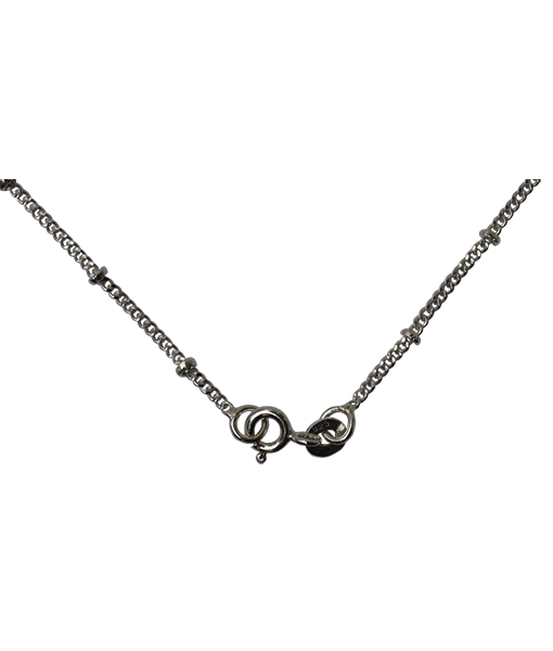 92.5 Sterling Silver Disco Chain - 45 cms