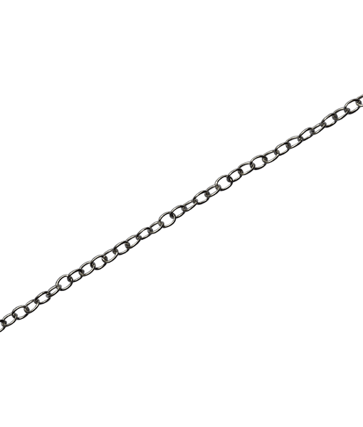92.5 Sterling Silver Oval Link Chain-100 Cms