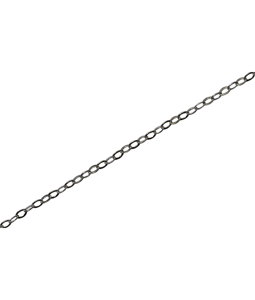 92.5 Sterling Silver Flat Link Chain-100 Cms