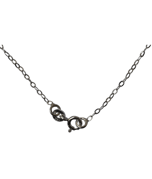 92.5 Sterling Silver Flat Link Chain-45 Cms