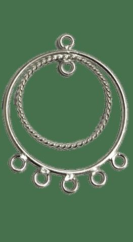 92.5 Sterling Silver Chandelier, Size-24x17mm