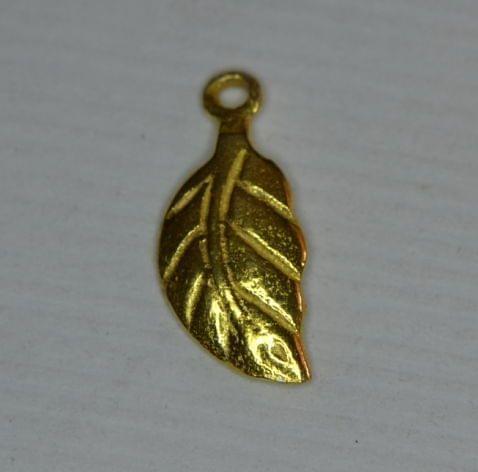 92.5 Sterling Silver Leaf Charm