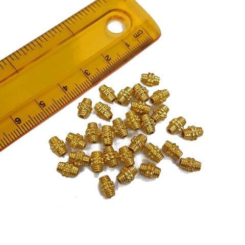 30pcs, 5x7mm Golden Spacer Beads