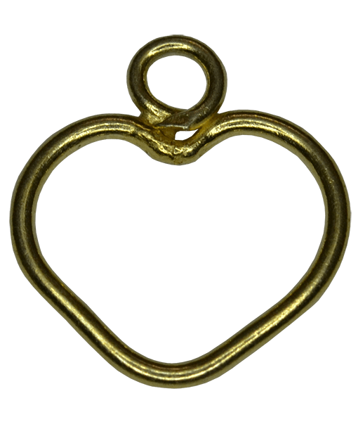 92.5 Sterling Silver Wire Heart Charm