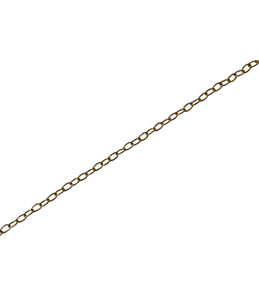 92.5 Sterling Silver Oval Link Chain - 100 cms