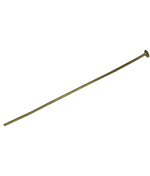 92.5 Sterling Silver 40mm Headpin with Flat Head