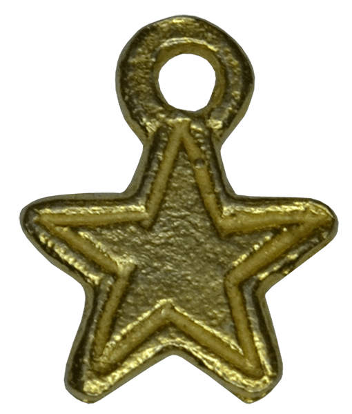 92.5 Sterling Silver Little Star Charm