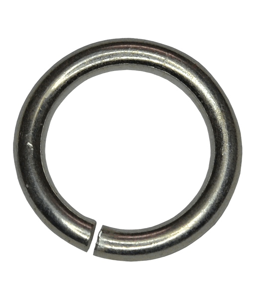 92.5 Sterling Silver 8mm Open Jump Ring