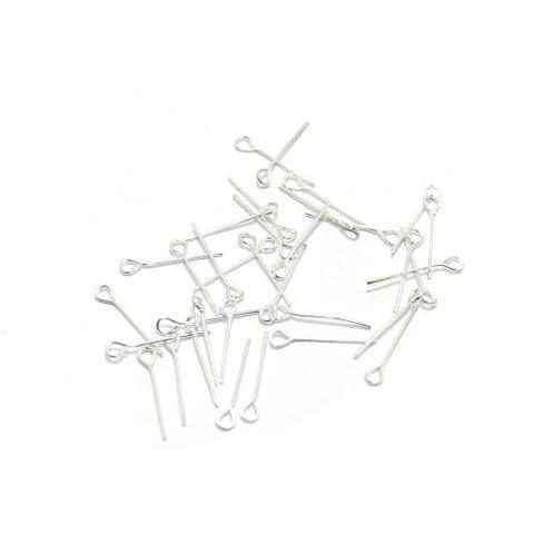500 Pcs Metal Nickel Eye Pin 0.5 inch