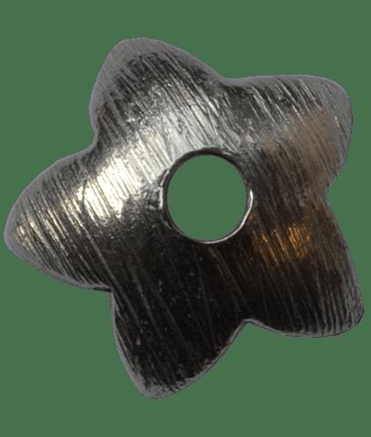 92.5 Sterling Silver 11mm Brushed Flower Cap