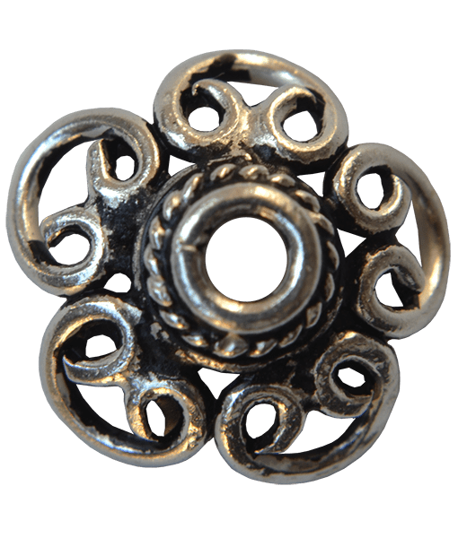 92.5 Sterling Silver Filigree Cap 12mm