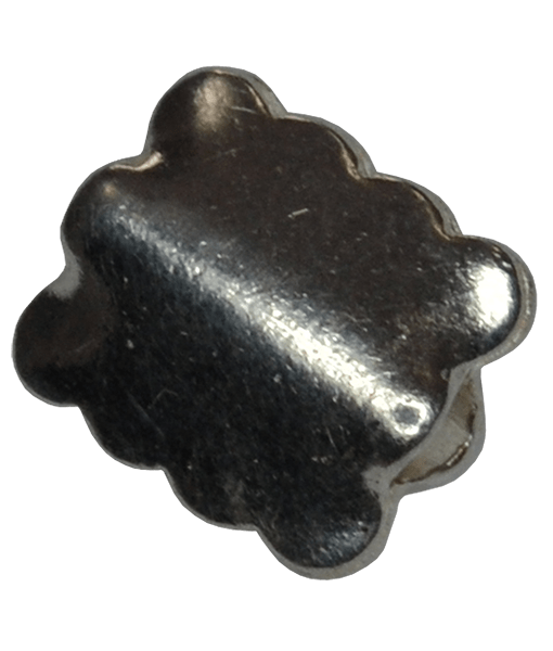 92.5 Sterling Silver Square Bead