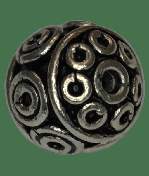92.5 Sterling Silver Round Handmade Bead