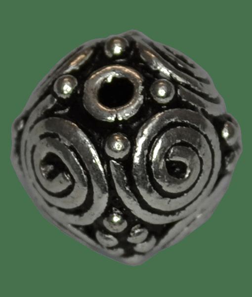 92.5 Sterling Silver Round Rava Bead
