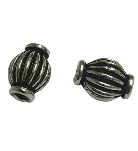 92.5 Sterling Silver Striped Bead