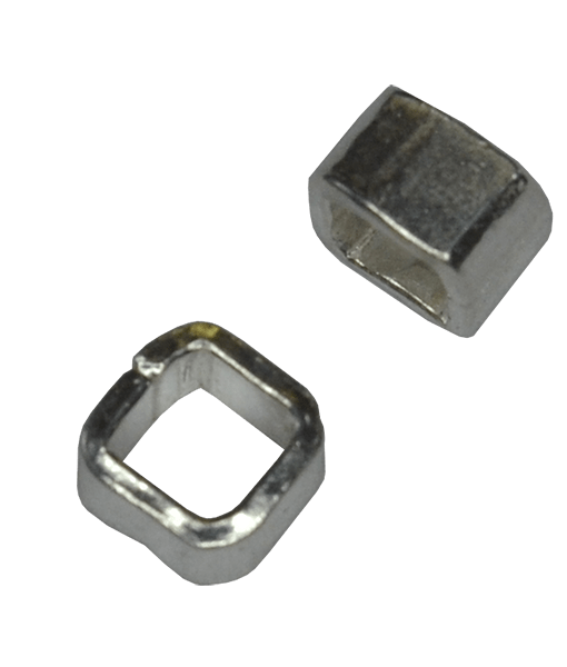 92.5 Sterling Silver 4mm Cube Beads