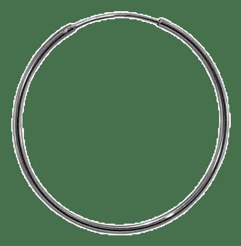 92.5 Sterling Silver 25mm Round Hoop Earrings