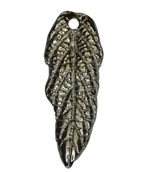 92.5 Sterling Silver Long Feather Charm