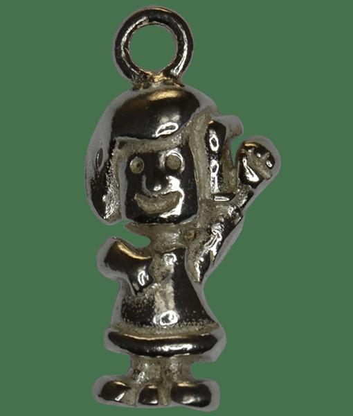 92.5 Sterling Silver Girl Charm