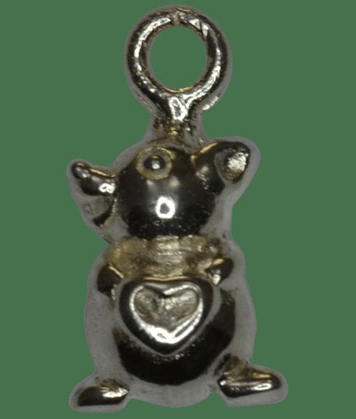 92.5 Sterling Silver Bear Charm