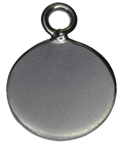 92.5 Sterling Silver Round Engraving Charm-10mm