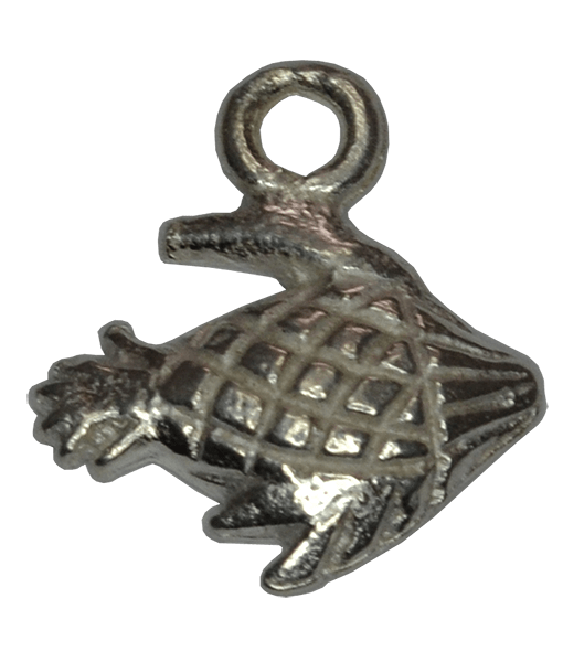 92.5 Sterling Silver Large Fish Charm