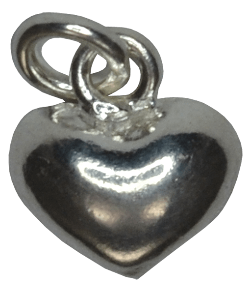 92.5 Sterling Silver Puffed Heart Charm