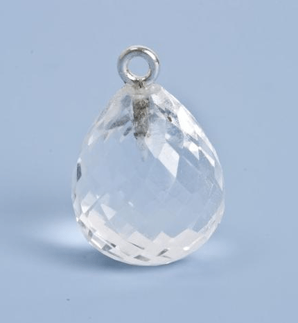 92.5 Sterling Silver with Crytsal Quartz Faceted Charm