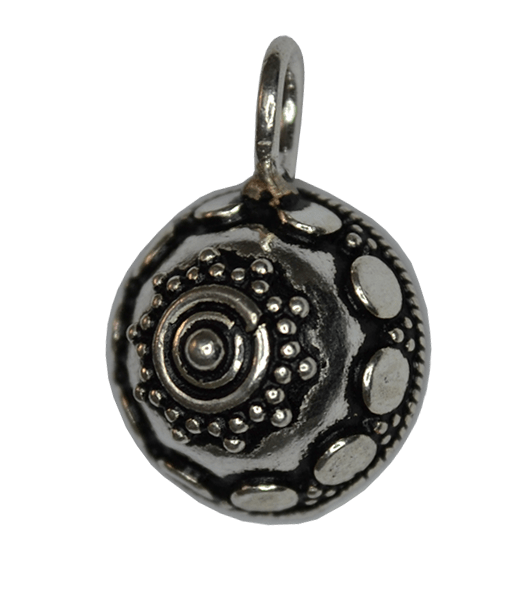 92.5 Sterling Silver Ethnic Large Charm.